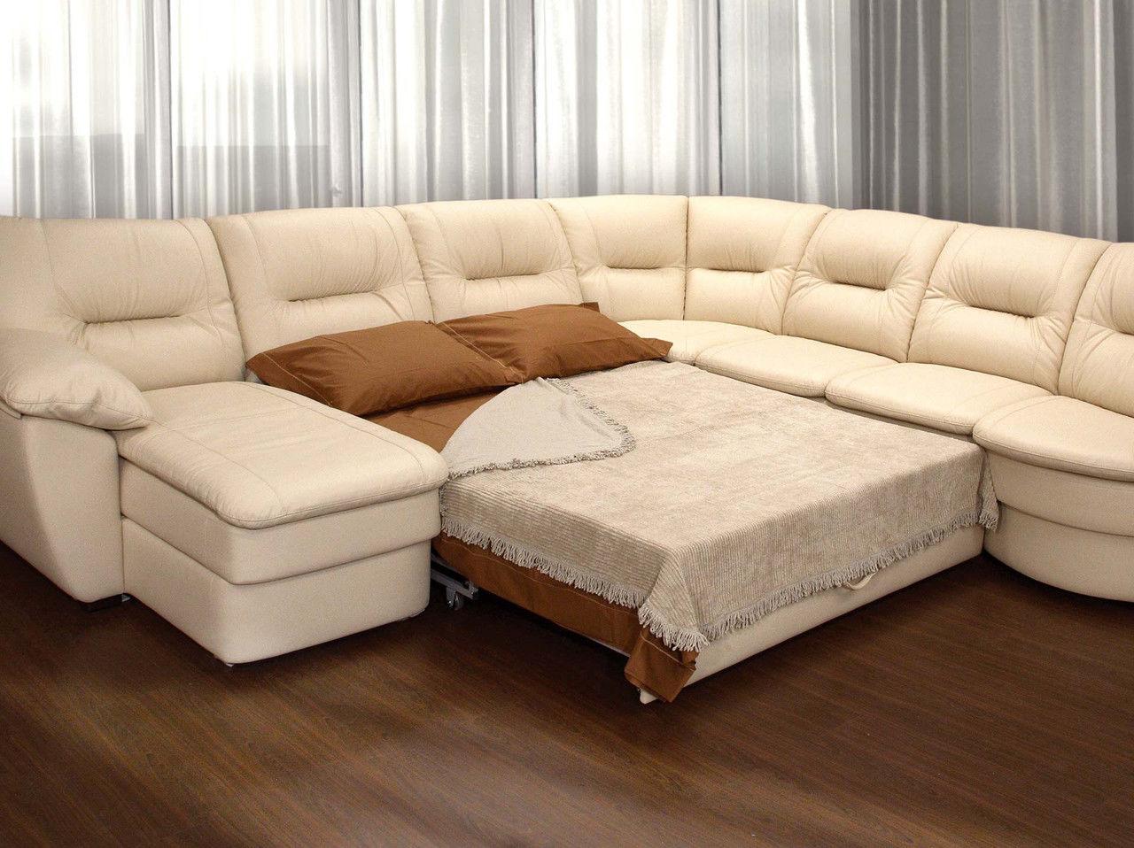 Угловые диваны с большим спальным местом
